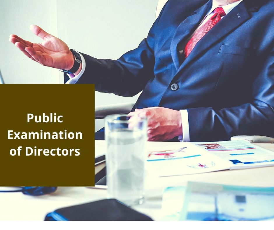 Circumstances in which a Director of a Company May Be Publicly Examined in Court